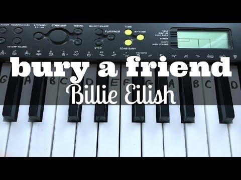 Bury A Friend - Billie Eilish | Easy Keyboard Tutorial With Notes