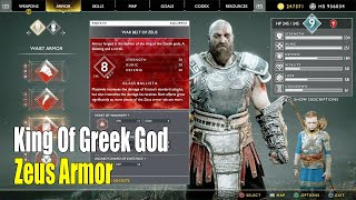 GoGod Of War NG+ - New King Of Greek God Zeus Armor ( Chest Armor Waist Armor Wrist Armor)