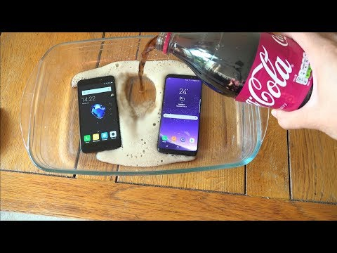 Xiaomi Redmi 4X vs Samsung Galaxy S8 Cherry Coca-Cola Test!