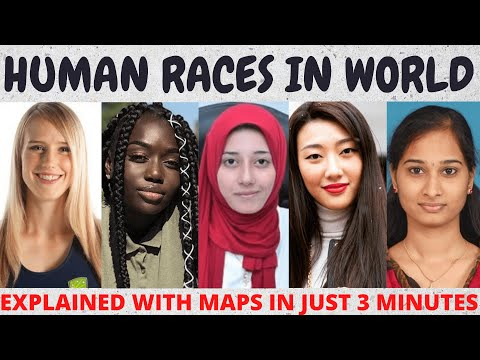 HUMAN RACES IN WORLD....Explained in 3 minutes !!!