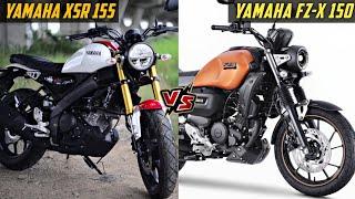 Yamaha XSR 155 Vs Yamaha FZ-X 150 Detailed Comparison   FZ-X vs XSR 155   K2K Motovlogs