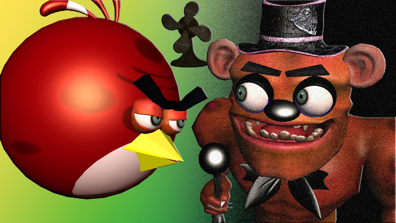 angry birds in 5 nights at freddy s 3d animated mashup