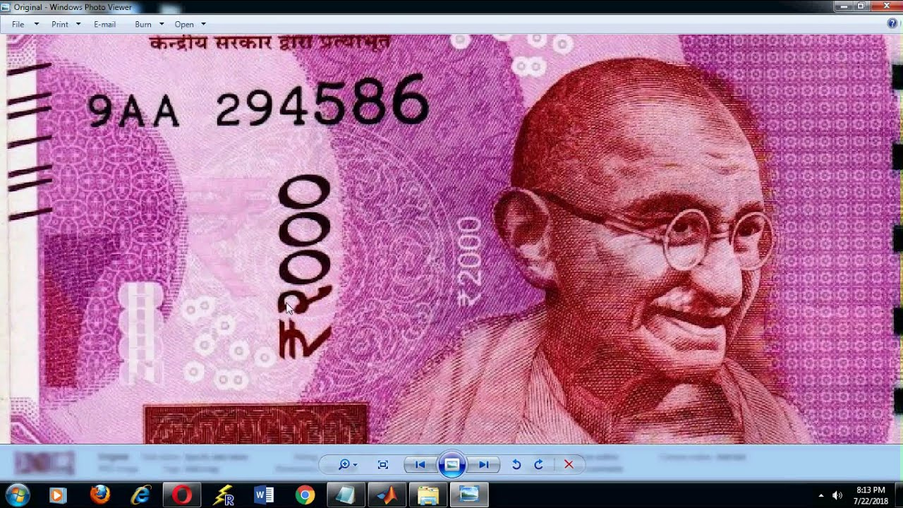 IDENTIFICATION OF NEW INDIAN FAKE NOTE AND DENOMINATION