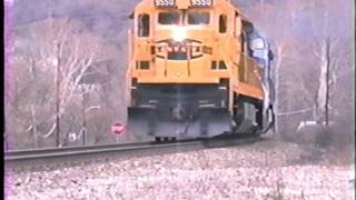 Conrails short lived 300 car monster coal train in SW Pennsylvania.