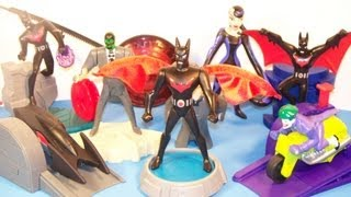 2000 BATMAN BEYOND SET OF 8 BURGER KING KID'S MEAL TOY'S VIDEO REVIEW