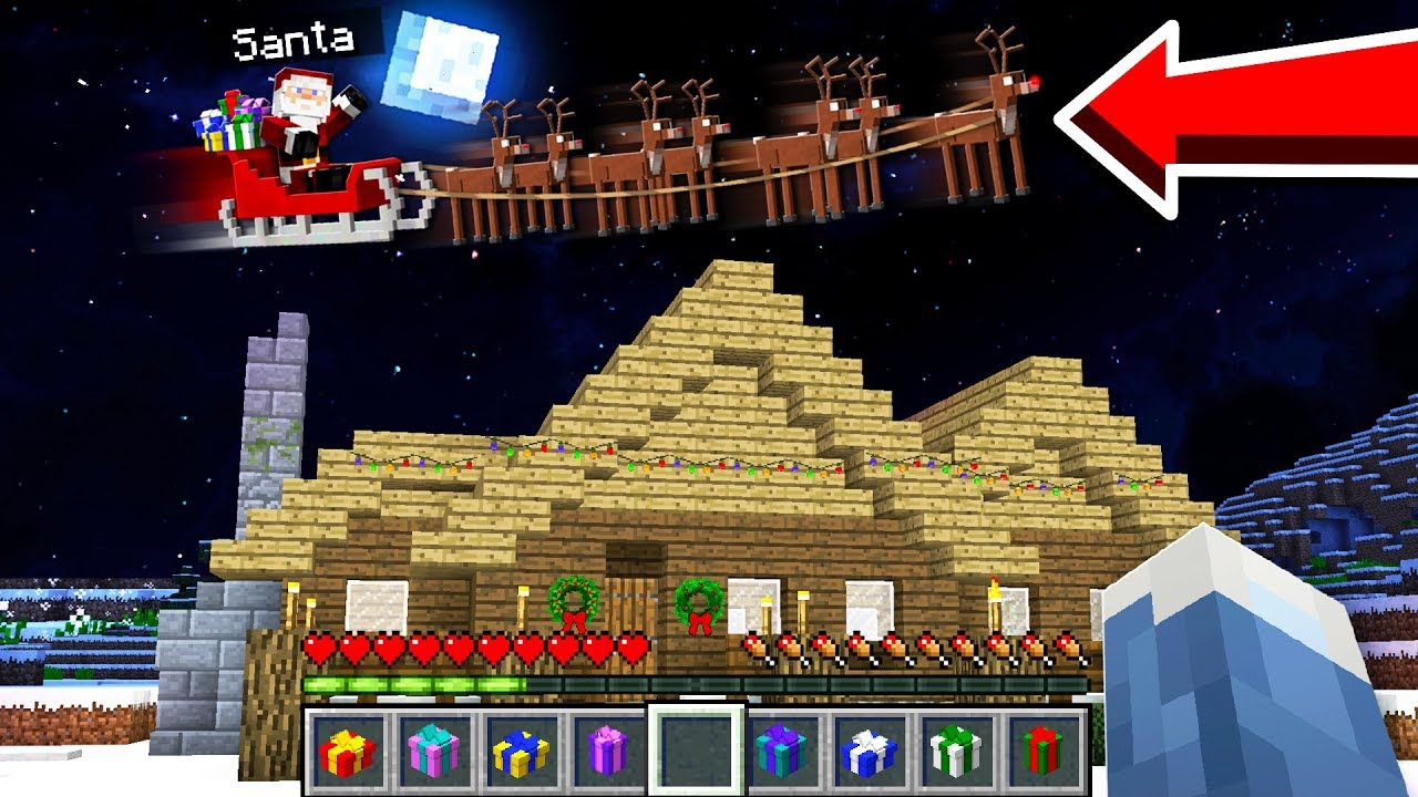 Christmas Minecraft World.Santa Came To My Minecraft World On Christmas