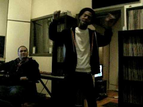 studio with KID CUDI, PLAIN PAT and EMILE.