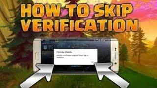 "HOW To SKIP""HUMAN VERIFICATION""IN FORTNITE ANDROID MOBILE|como quitar lo de verify de android beta"