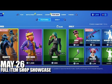 Fortnite Item Shop - May 26 2020 (Fortnite Battle Royale)