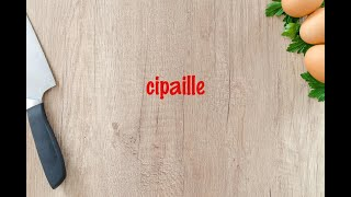 How to cook - cipaille