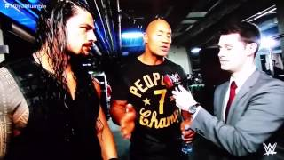 The Rock & Roman reigns post rumble interview