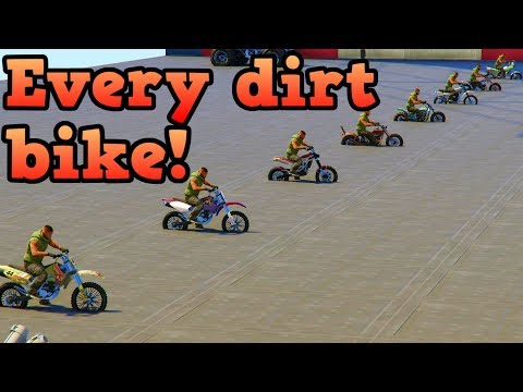 Gta Online Every Dirt Bike In A Drag Race Youtube