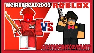 LORD SINISTER 1V1 BET W/ WeirdBread2OO3 (ROBLOX ASSASSIN INSANE BETS) *WHO WINS?! *