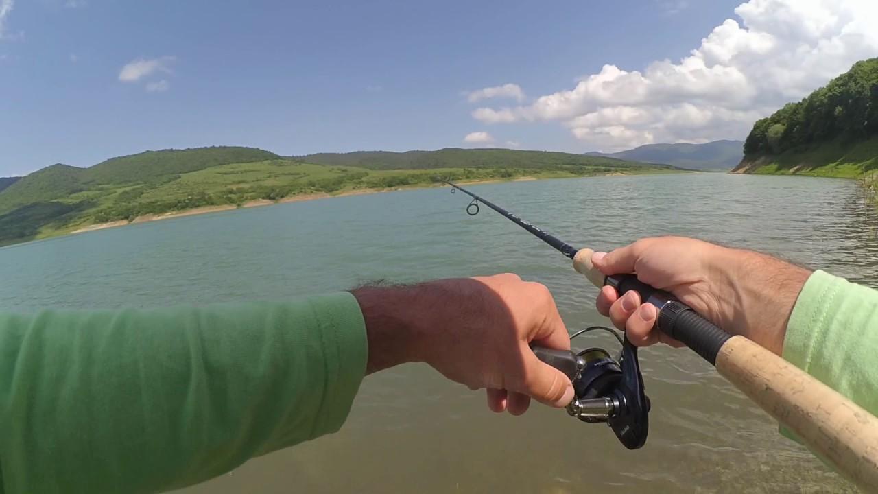 თევზაობა შამაიაზე ბომბარდით (სიონის წყალსაცავი)