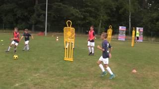 CZ3- Piłkarski Biwak w Brzeźniku  z Regiosport - Lato z Szabełkami -Pierwszy Trening-Gierka