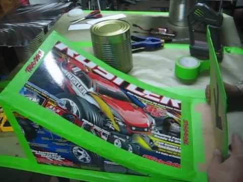 how to make a rc car ramp using the traxxas box youtube. Black Bedroom Furniture Sets. Home Design Ideas