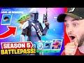 *NEW* Fortnite SEASON 5 BATTLEPASS! (Baby Yoda, Mandalorian + SECRET  SKINS!)