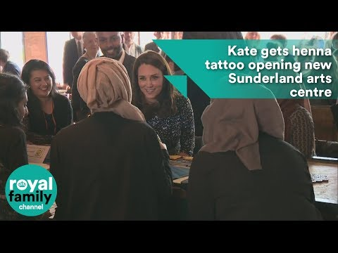 Kate gets henna tattoo opening new Sunderland arts centre