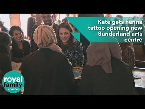 Kate gets henna tattoo  new Sunderland arts centre