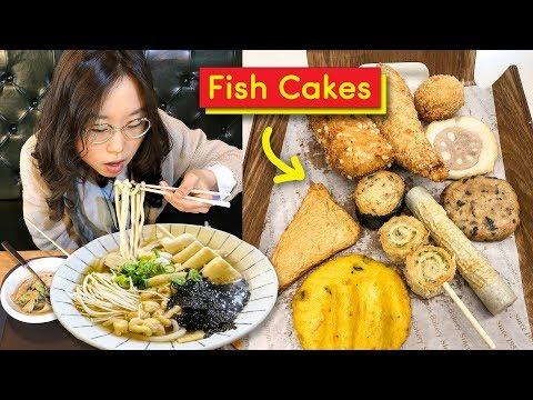 KOREAN FISH CAKES Ft Udon Noodles 🐟 Busan Day 4