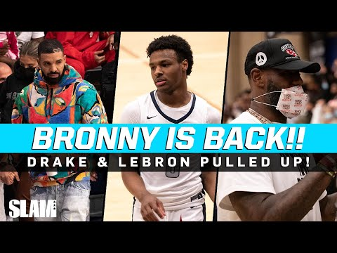 Download Bronny's BACK‼️🚨 Drake and LeBron Watch the Game of the Year!? 🔥