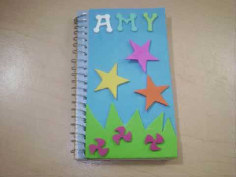 How to decorate a spiral notebook ep simplekidscrafts for Back to school notebook decoration ideas