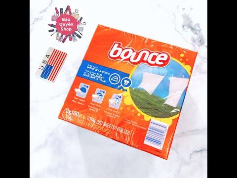Lốc giấy thơm quần áo Bounce Mỹ - 320 tờ