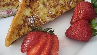 Strawberries With Cheesecake Stuffed French Toast