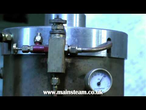 """ADJUSTING A LARGE 12 INCH """"SOUTHWORTH"""" STEAM BOILER FEED WATER PUMP IN STEAM ON THE BENCH"""