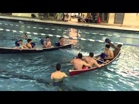 Wellness Center organizes game of Battleship with canoes in pool
