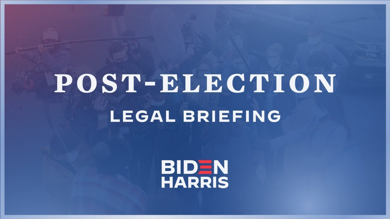 Post-Election Legal Briefing with Bob Bauer