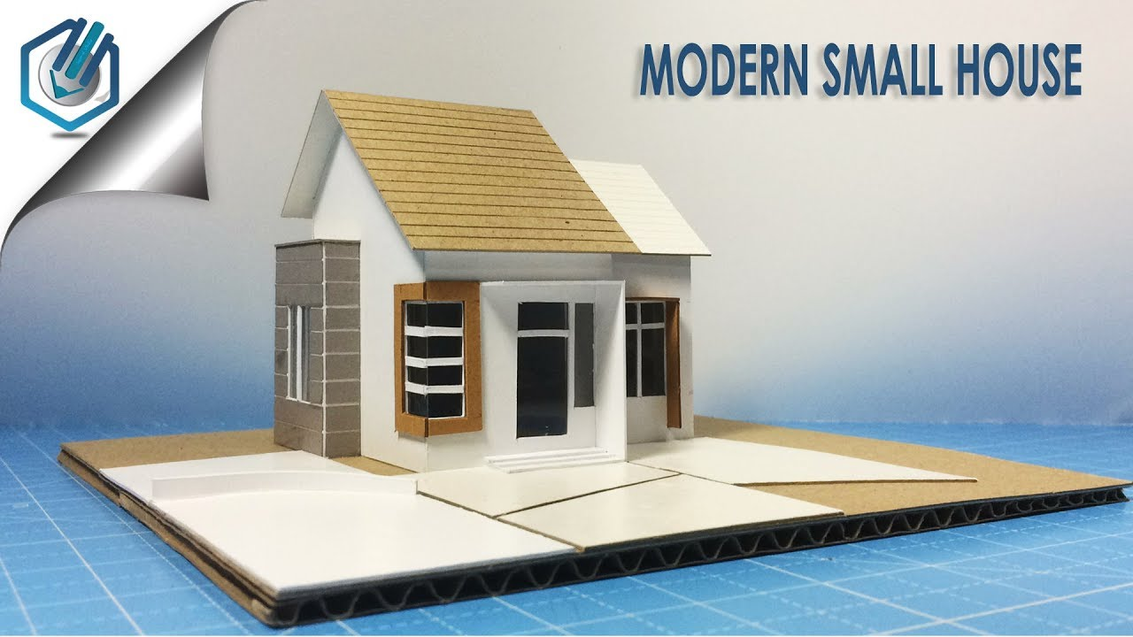 Model making of modern residential small house youtube - Make your house a home ...