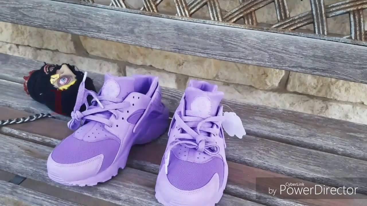 Nike huaraches purple customs - YouTube 548023d37
