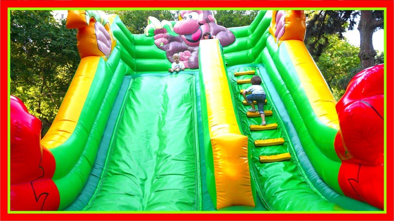 Playground For Children Big Inflatable Slide Outdoor Activities