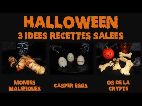 halloween 3 id es de recettes sal es youtube. Black Bedroom Furniture Sets. Home Design Ideas