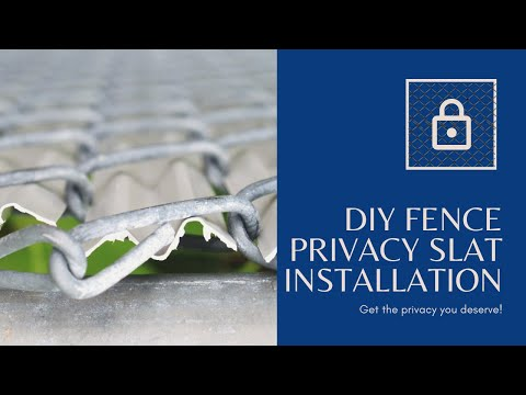 How To Install Chain Link Privacy Slats Www Justslats Com