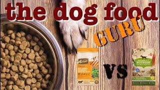 Dog food Mash-up Nutrish vs Merrick