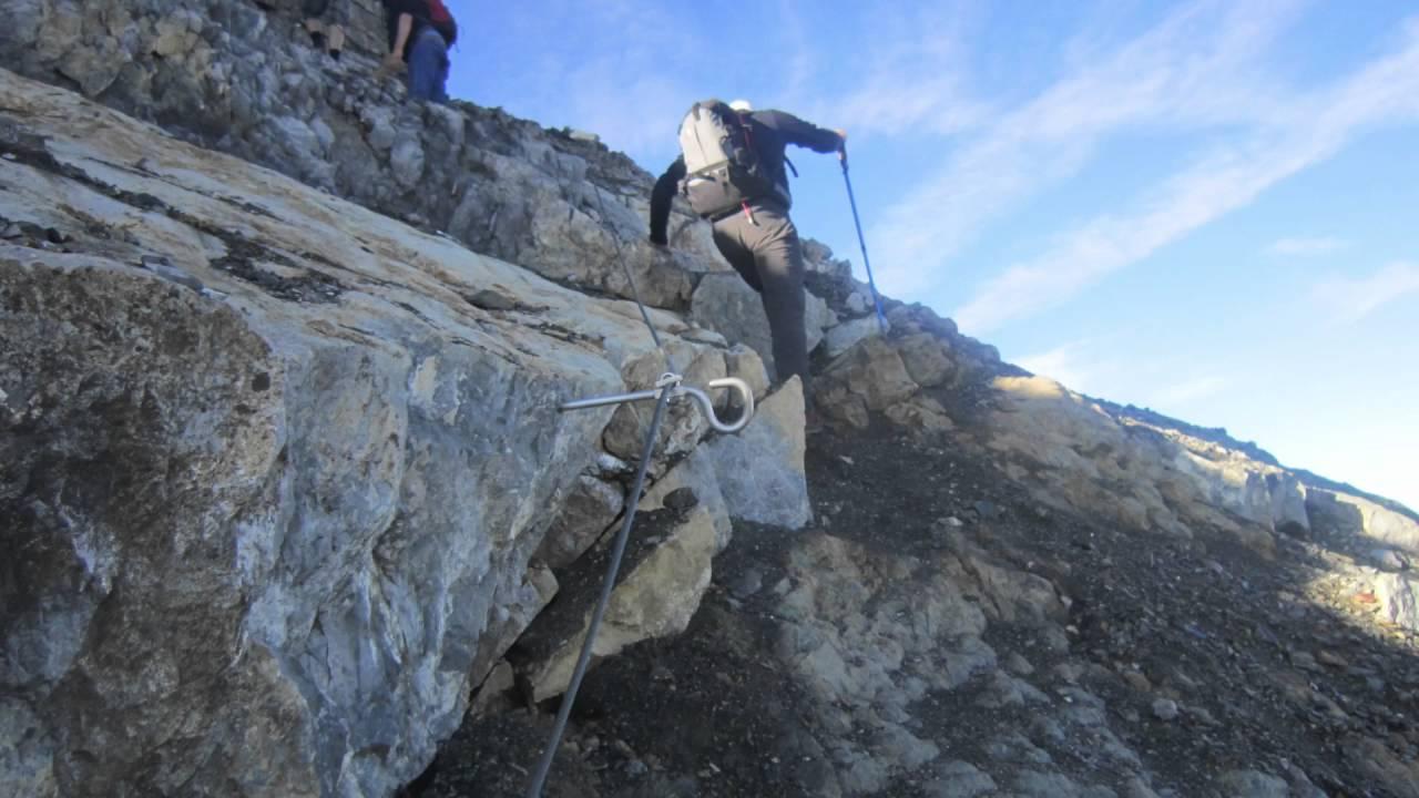 Klettersteig Piz Mitgel : Piz mitgel savognin youtube