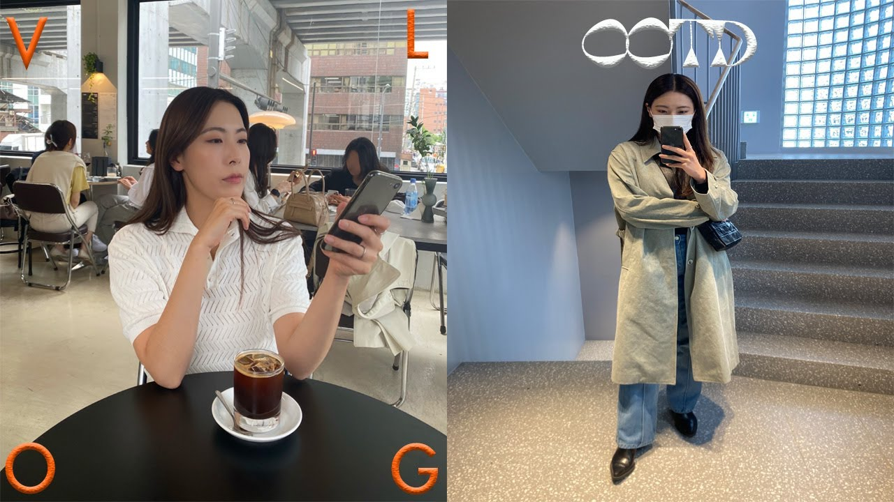 vlog. 4월 일상 모음 브이로그 🌹4월의 OOTD • 아모멘토 가방 • 패션하울 영상 촬영 • 혼자서도 잘 노는 주말 | gahyun 가현