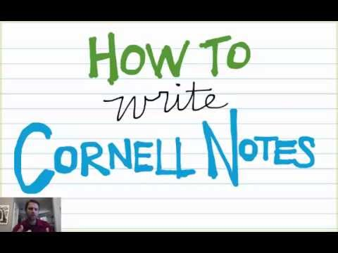 How To Write Cornell Notes