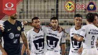 Pumas golea al América | América 0 - 3 Pumas | Partido Amistoso | Televisa Deportes