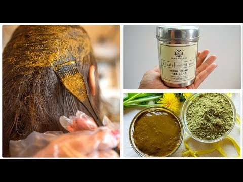 How To Apply Henna/மருதாணி To Hair - Khadi Henna Application - Tamil Video