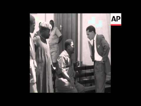 SYND 21 12 63 JOSHUA NKOMO, THE ZIMBABWEAN NATIONALIST LEADER IS SENTENCED IN SALISBURY