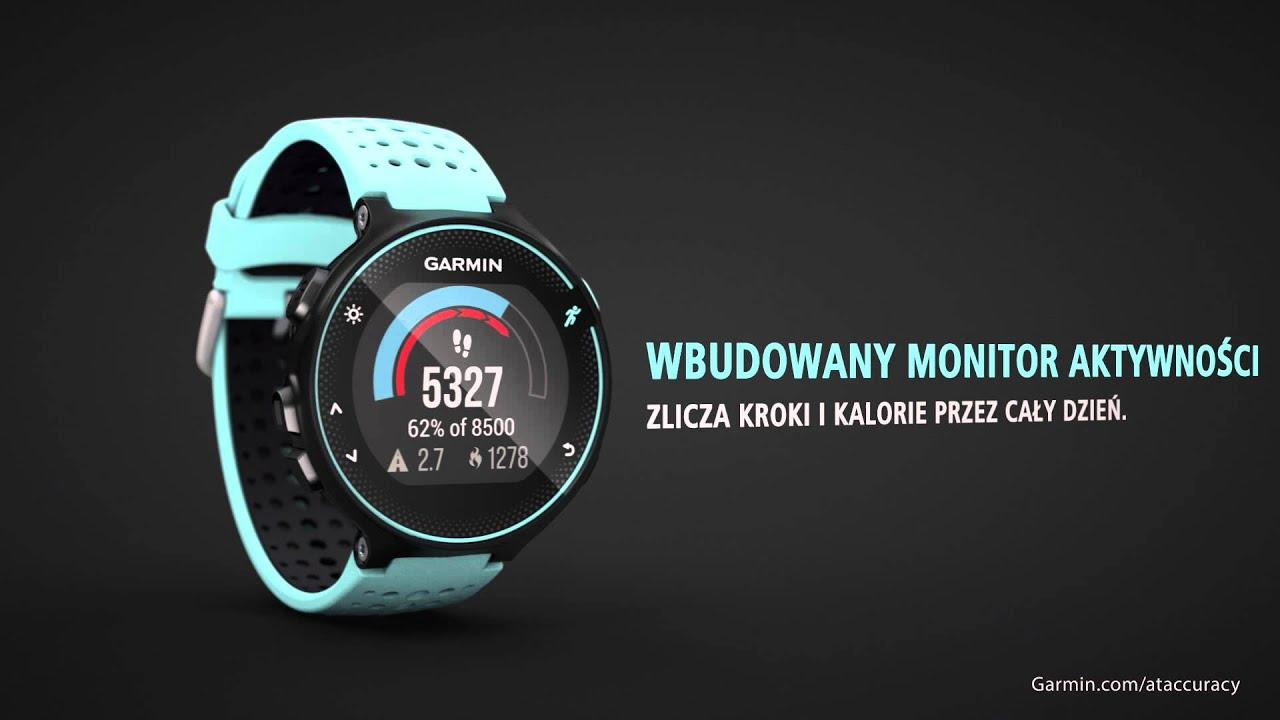 Forerunner 235 - Zegarek biegowy GPS z czujnikiem tętna na nadgarstek (Polski)