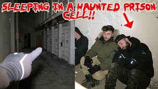 SLEEPING IN A HAUNTED PRISON CELL! ! GHOST SHADOW CAUGHT ON CAMERA | MOE SARGI