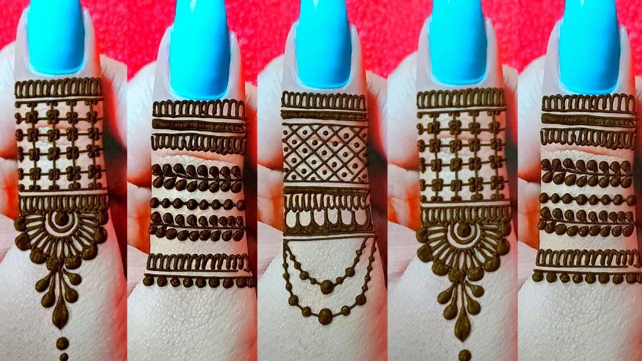 Most stylish finger mehndi design for hands || Latest new finger mehndi || Simple mehndi