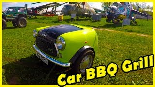 """Unusual and Strange Car BBQ Grill Review 2018. Mini Car Grill 2018. Old Cars Show """"Old Car Land"""""""