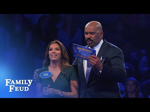 Eva Longoria's INCREDIBLE Fast Money!  Celebrity Family Feud