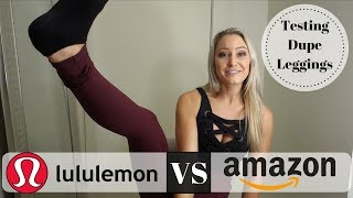 Lululemon Employee Reviews Dupe Leggings From Amazon
