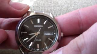 Seiko Solar watch (Ref. SNE039P1)